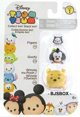Disney Tsum Tsum Figures Series#1 Your Choice 29 Different 3 Pack Sets New L@@K