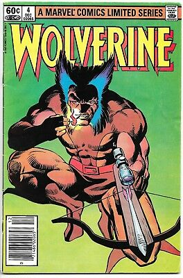 WOLVERINE #4 of 4 - Limited Series (1982 Marvel) - Frank Miller Chris Claremont