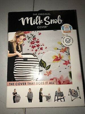 MILK SNOB French Floral Cover Nursing Breastfeeding Carseat Shopping Cart Cover