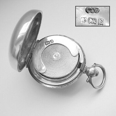Hallmarked 1901 ANTIQUE SOLID ENGLISH STERLING SILVER SOVEREIGN CASE
