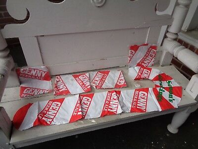 Vintage Lot Of 5 Genny Candy Cane Beer Inflatable Bar Christmas Sign Decoration