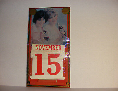 ENJOY COCA-COLA ViNTAGE WALL CALENDAR METAL COKE SiGN 9x17 MARKATRON 1981 ATL GA