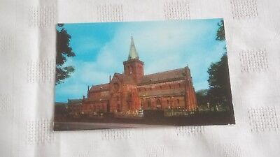 ST MAGNUS CATHEDRAL KIRKWALL ORKNEY POSTCARD - POSTED 9th SEPTEMBER 1978