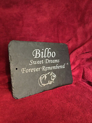 Guinea Pig Memorial Slate Plaque, Personalised to requirement - Any Message