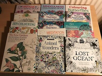 Job Lot Of 15 Adult Colouring Books / New & Unused
