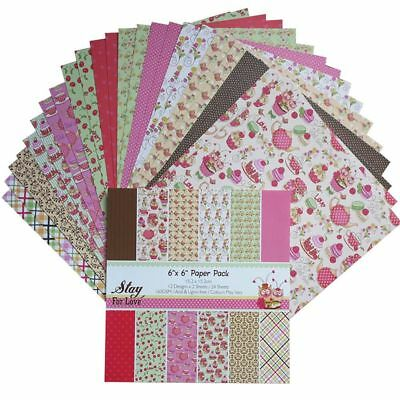 Paper Background Patterned DIY Craft Scrap Booking Parties Decorations Sheets