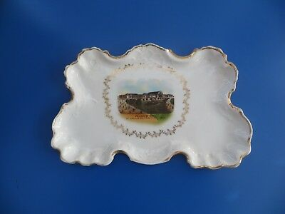HUGE antique souvenir china TRAY PALACE OF ARTS 1904 ST. LOUIS EXPOSITION Fair