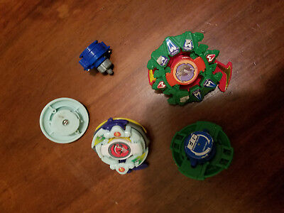Beyblade Metal Battle Tops Lot Of  Mix Pieces pulls tabs, launchers and assorted