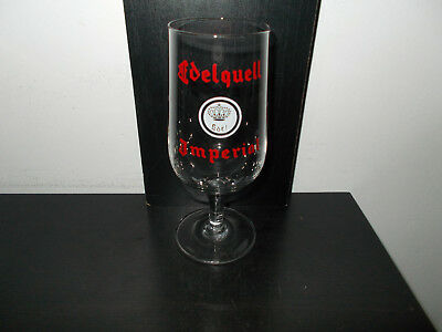 oud geverfd bierglas Edelquell Imperial