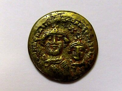 SALE Roman Gold Coloured Solidus Contemporary Forgery Rare Byzantine AncientCopy