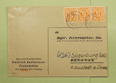 DR WHO 1946 GERMANY AMG MILITARY MAIL FAKOFEN  d66400