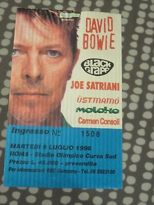 David Bowie Ticket - Rome - Italy 1996 Outside Tour - LOVELY ticket L@@K