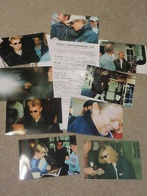 David Bowie - 9 Rare Private Off Stage Unpublished Photos Plus 1960s contract