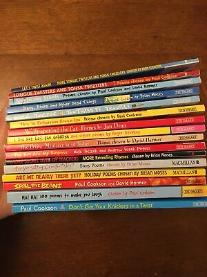 Job Lot 16 Children's Poetry Books Poems Chosen By Brian Moses, Paul Cookson