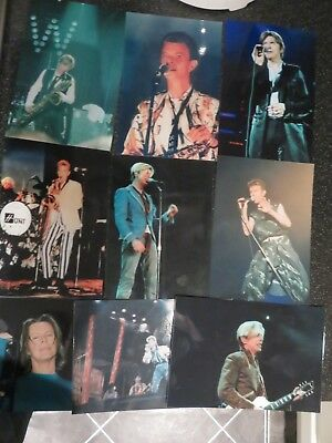 David Bowie - 9 Rare Private On Stage Unpublished Photos Plus Hand WrittenLetter