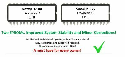 Kawai R-100 - Revision C Firmware Update Upgrade OS for R100 12-Bit Drummachine