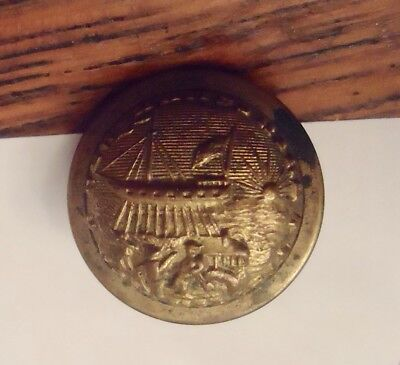 New Hampshire Civil War Volunteer Military Coat Button Scovill Mfg Co.