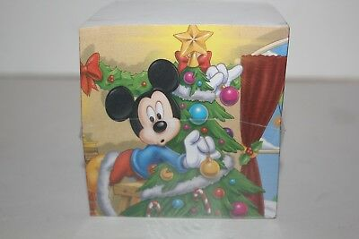 Vintage Disney Mickey Mouse Paper Cube Notepad Sealed - Christmas