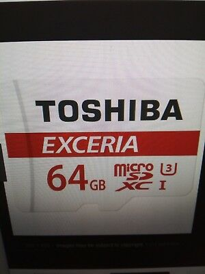 64gb Toshiba micro sdxc card with adapter & protective case