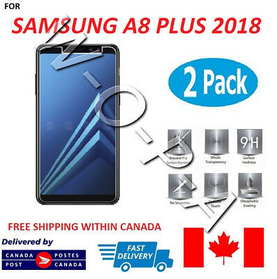 Fits Samsung Galaxy A8 Plus 2018 Premium Tempered Glass Screen Protector