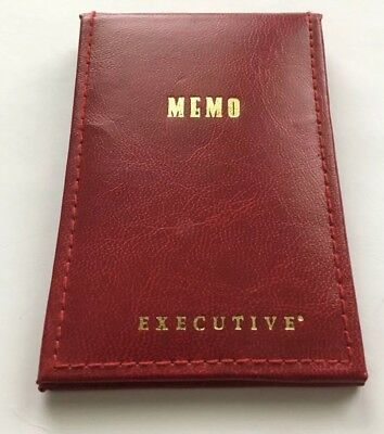 Vintage Stuart Hall Executive Pocket Memo Pad Holder/Case