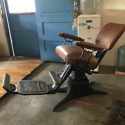 Antique Dentist Chair Barber Chair - ANTIQUE BARBER/DENTIST CHAIR For Sale - $6,500.00 PicClick