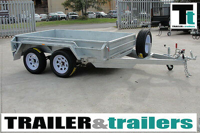 10x5 GALVANISED TANDEM BOX TRAILER – NEW WHEELS - HEAVY DUTY - SPARE WHEEL