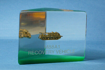 M88A1 Recovery Vehicle Acrylic Lucite Paperweight US Army Military