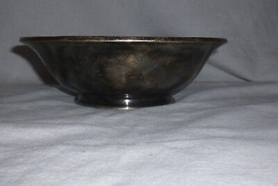 """Smith Silver Co Bowl Silverplate """"Claypool Hotel"""" Indianapolis"""