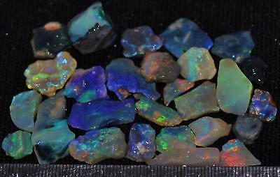 100 Cts Solid Gem Quality Lightning Ridge Rough And Rough Rubbed Opal Parcel 53