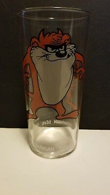 Vintage Collector 1973 Looney Tunes Pepsi Glass - Tasmanian Devil TAZ