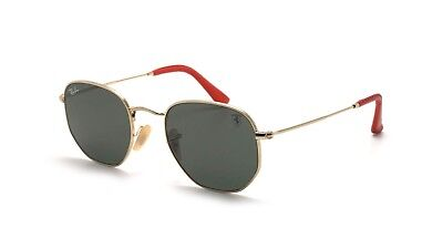 Ray-Ban RB3548NM SCUDERIA FERRARI COLLECTION Oro G-15 lens F0008/31 ORIGINALI