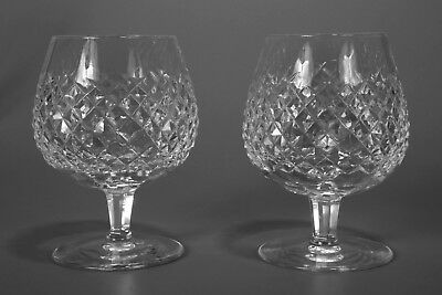 Vintage 1950s Waterford Crystal ALANA Brandy Glasses Set of 2 In Mint Condition