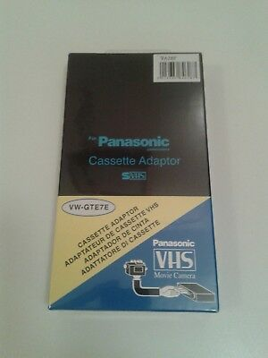Panasonic Cassette Adaptor S-VHS VHS-C VG-GTE7E (Converts Video Camcorder Tapes)