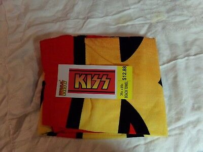 Kiss beach towel. New with tags!