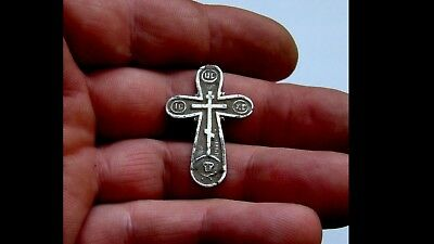 Late/post Medieval Era Silver Cross Pendant
