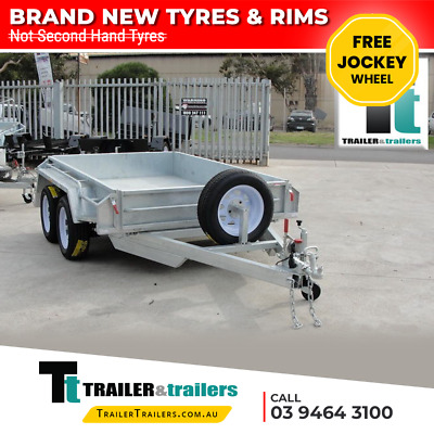 10x5 GALVANISED TANDEM BOX TRAILER - HEAVY DUTY - FULLY WELDED – JOCKEY WHEEL