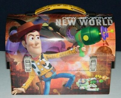 Walt Disneys Toy Story Workmans Carry All Tin Tote Lunchbox Series 2 Style B NEW