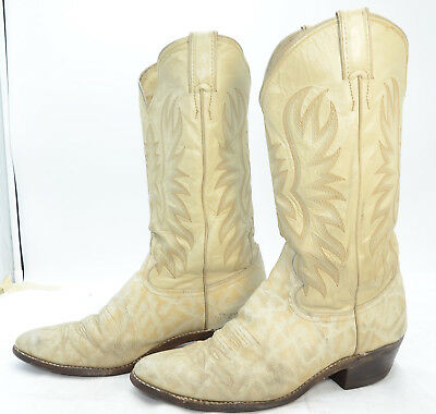 Vtg Justin Boots USA Mens Sz 9 Western Cowboy Leather Riding Work Boots