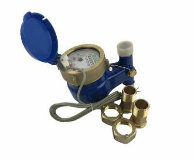 """DAE V-50P Vertical Water Meter, Pulse Output, 1/2"""" NPT Couplings, Gallons"""