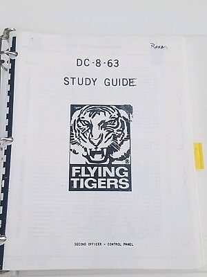 Flying Tigers DC8-63-F Study Guide Second Officer Control Panel-1971