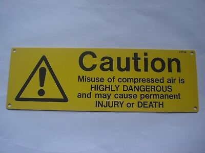 9 x Compressed Air Caution Sign 2275D