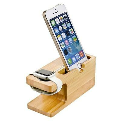 Bamboo Wood Charger Station for Apple Watch Charging Dock Station Charger Stand