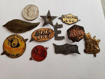 Lot 10 Antique Tobacco Tags Advertising Estate Collection #4 L@@k Here!!