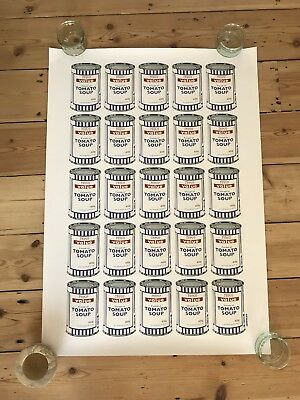 Banksy Soup Can Limited Edition Poster Authentic Pictures On Walls