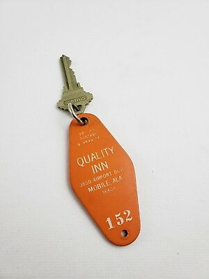 Vintage Hotel Motel Key Fob Quality Inn Mobile ALA Room 152
