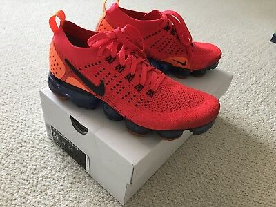 Nike AIR VAPORMAX FLYKNIT 2 RED ORBIT Men's Size 7.5 with Box EUC !!!!