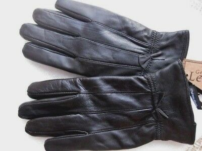 Gloves Black Leather Womens S/M Winter Thinsulate 40g