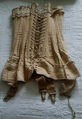 Very rare and sublime corset fine woman XIXème-1900 lace