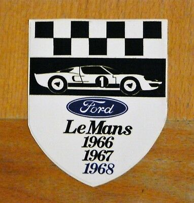 Ford GT40 wins Le Mans 1966 / 67 / 68 Race Motorsport Sticker Decal